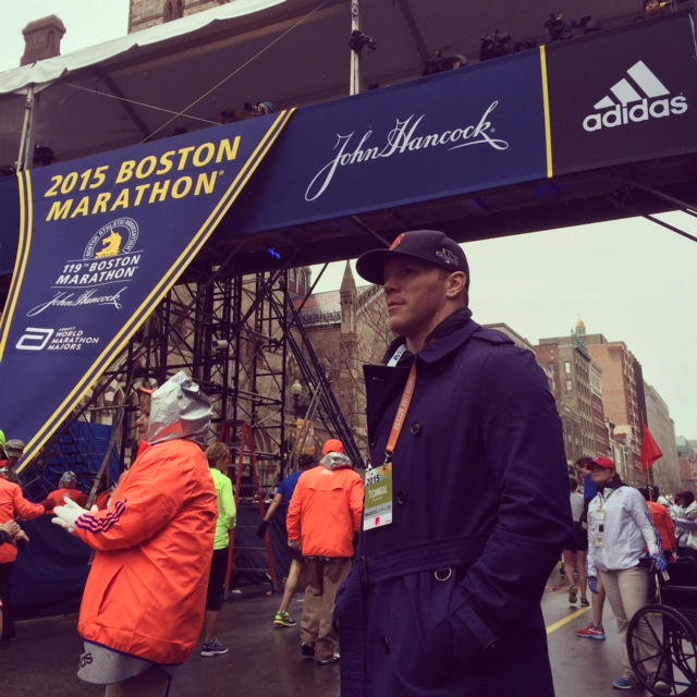 shawn thornton at the marathon finish line