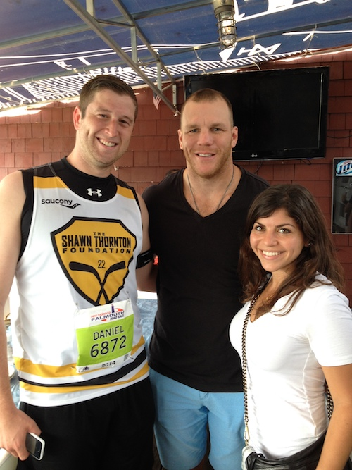 shawn thornton and marathon runners